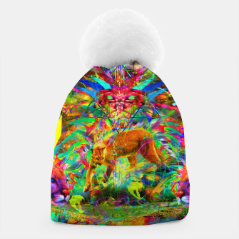 Thumbnail image of The Laser Focus of Cougar Conciousness (cat, mountain lion) Beanie, Live Heroes