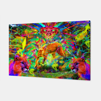 Miniaturka The Laser Focus of Cougar Conciousness (cat, mountain lion) Canvas, Live Heroes