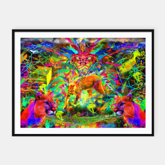 Miniaturka The Laser Focus of Cougar Conciousness (cat, mountain lion) Framed poster, Live Heroes