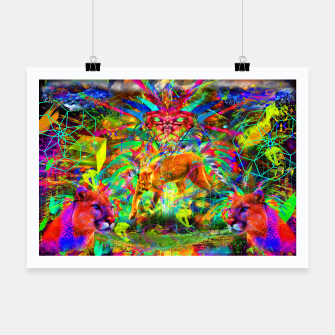 Miniaturka The Laser Focus of Cougar Conciousness (cat, mountain lion) Poster, Live Heroes