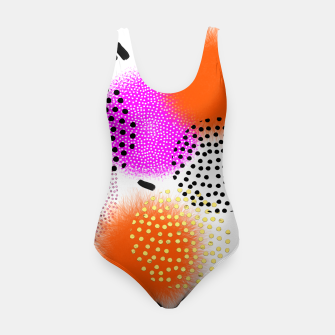 Thumbnail image of Bold Bright Geometric Abstract Fusion Swimsuit, Live Heroes