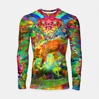 Thumbnail image of The Laser Focus of Cougar Conciousness (cat, mountain lion) Longsleeve rashguard , Live Heroes