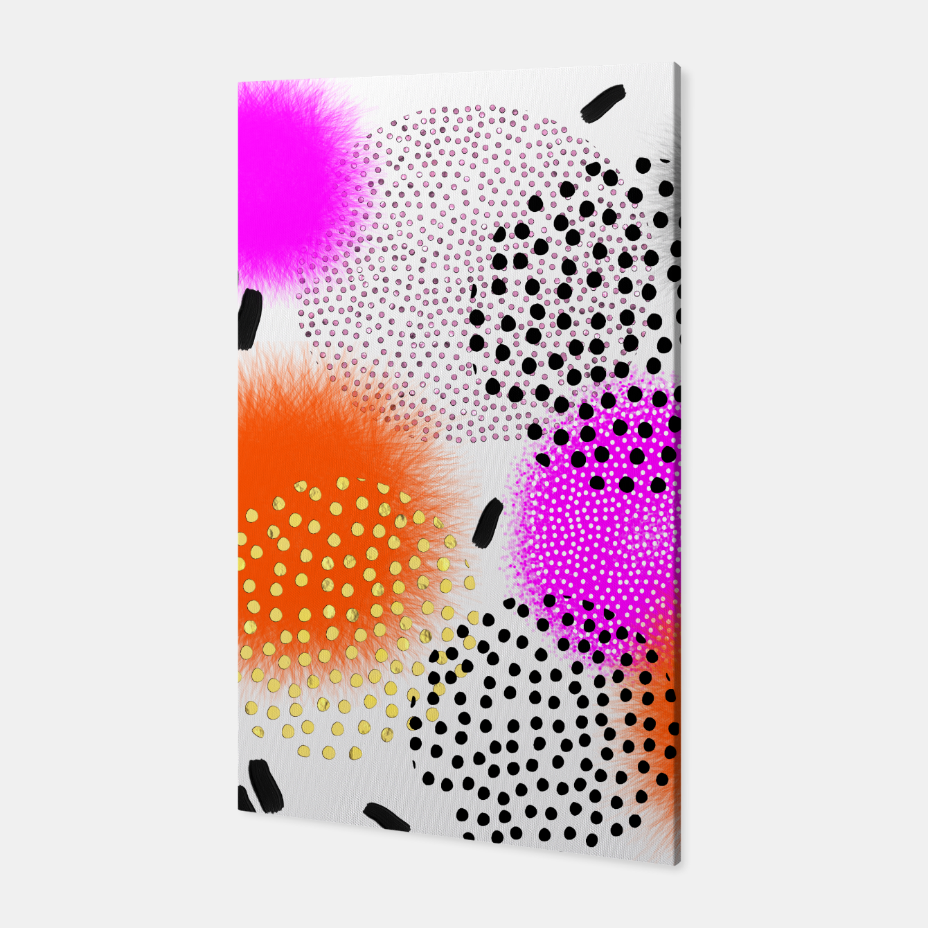 Image of Bold Bright Geometric Abstract Fusion Canvas - Live Heroes