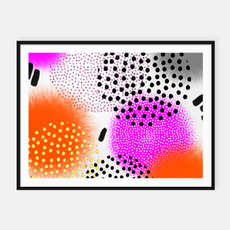 Thumbnail image of Bold Bright Geometric Abstract Fusion Framed poster, Live Heroes
