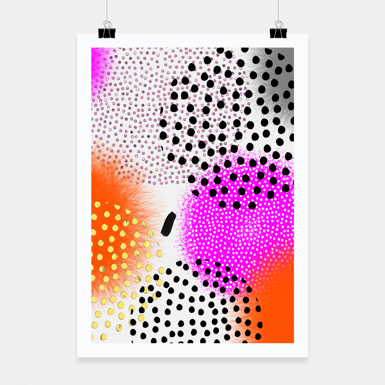 Image of Bold Bright Geometric Abstract Fusion Poster - Live Heroes
