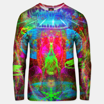 Thumbnail image of Paleo Scream Invocation (dinosaurs, skulls, occult, teeth) Cotton sweater, Live Heroes