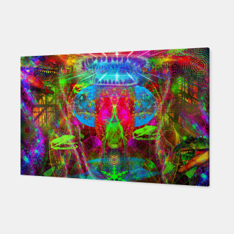 Thumbnail image of Paleo Scream Invocation (dinosaurs, skulls, occult, teeth) Canvas, Live Heroes