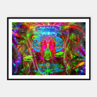 Thumbnail image of Paleo Scream Invocation (dinosaurs, skulls, occult, teeth) Framed poster, Live Heroes