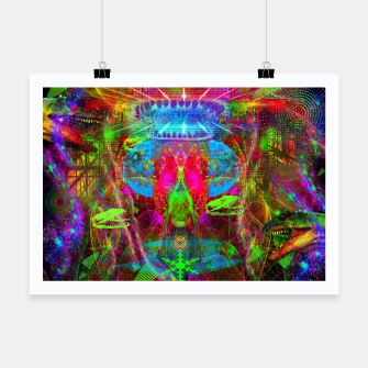 Thumbnail image of Paleo Scream Invocation (dinosaurs, skulls, occult, teeth) Poster, Live Heroes