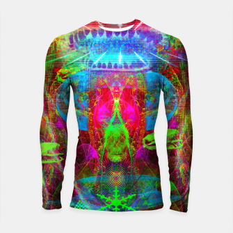Thumbnail image of Paleo Scream Invocation (dinosaurs, skulls, occult, teeth) Longsleeve rashguard , Live Heroes
