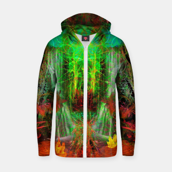 Miniature de image de The Cooling Spirit of Autumn (visionary, forest, leaves) Cotton zip up hoodie, Live Heroes