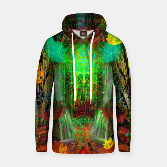 Miniature de image de The Cooling Spirit of Autumn (visionary, forest, leaves) Cotton hoodie, Live Heroes