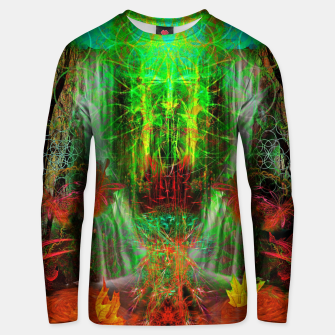 Miniature de image de The Cooling Spirit of Autumn (visionary, forest, leaves) Cotton sweater, Live Heroes