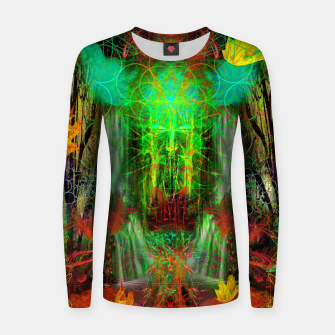 Miniature de image de The Cooling Spirit of Autumn (visionary, forest, leaves) Woman cotton sweater, Live Heroes