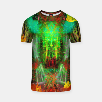 Miniature de image de The Cooling Spirit of Autumn (visionary, forest, leaves) T-shirt, Live Heroes