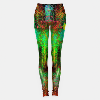 Miniature de image de The Cooling Spirit of Autumn (visionary, forest, leaves) Leggings, Live Heroes