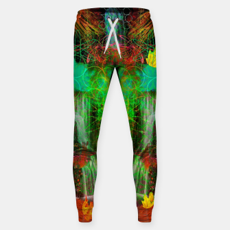 Miniature de image de The Cooling Spirit of Autumn (visionary, forest, leaves) Cotton sweatpants, Live Heroes
