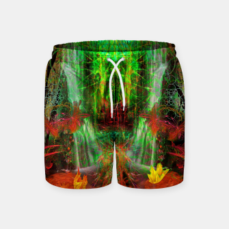 Miniature de image de The Cooling Spirit of Autumn (visionary, forest, leaves) Swim Shorts, Live Heroes