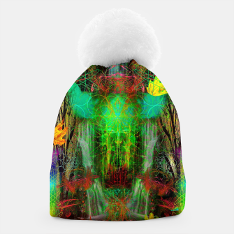 Miniature de image de The Cooling Spirit of Autumn (visionary, forest, leaves) Beanie, Live Heroes