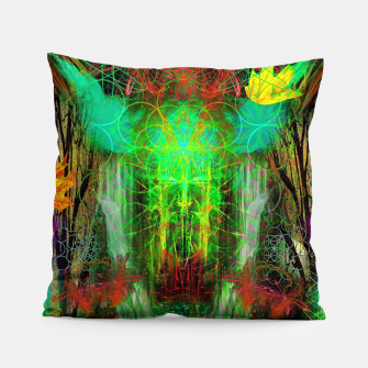 Miniature de image de The Cooling Spirit of Autumn (visionary, forest, leaves) Pillow, Live Heroes