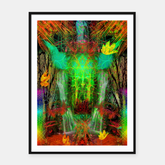 Miniature de image de The Cooling Spirit of Autumn (visionary, forest, leaves) Framed poster, Live Heroes