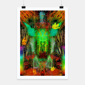 Miniature de image de The Cooling Spirit of Autumn (visionary, forest, leaves) Poster, Live Heroes