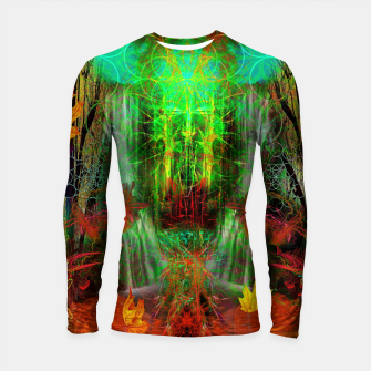 Miniature de image de The Cooling Spirit of Autumn (visionary, forest, leaves) Longsleeve rashguard , Live Heroes