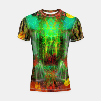 Miniature de image de The Cooling Spirit of Autumn (visionary, forest, leaves) Shortsleeve rashguard, Live Heroes
