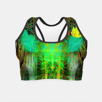 Miniature de image de The Cooling Spirit of Autumn (visionary, forest, leaves) Crop Top, Live Heroes