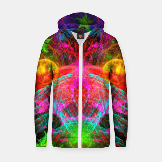 Thumbnail image of A Martian Queen Awakens From Hibernation (fluorescent) Cotton zip up hoodie, Live Heroes