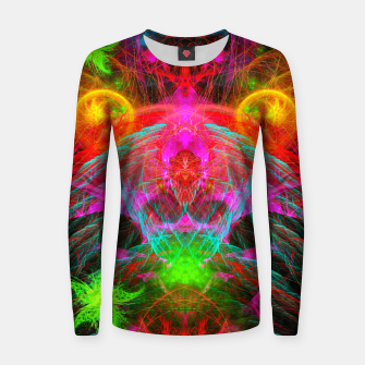 Thumbnail image of A Martian Queen Awakens From Hibernation (fluorescent) Woman cotton sweater, Live Heroes