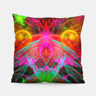 Thumbnail image of A Martian Queen Awakens From Hibernation (fluorescent) Pillow, Live Heroes
