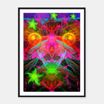 Thumbnail image of A Martian Queen Awakens From Hibernation (fluorescent) Framed poster, Live Heroes