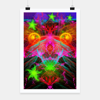 Thumbnail image of A Martian Queen Awakens From Hibernation (fluorescent) Poster, Live Heroes