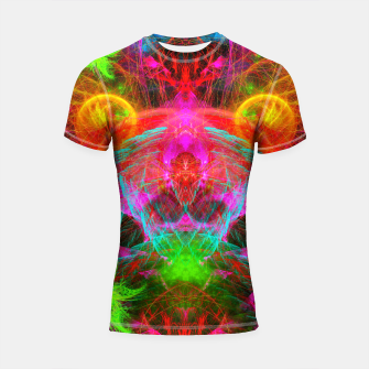 Thumbnail image of A Martian Queen Awakens From Hibernation (fluorescent) Shortsleeve rashguard, Live Heroes