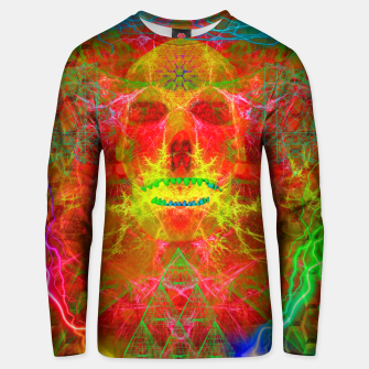 Thumbnail image of Electric Skull (psychedelic, lightning) Cotton sweater, Live Heroes