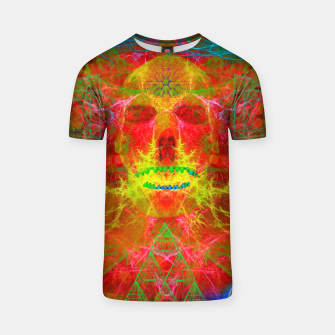 Thumbnail image of Electric Skull (psychedelic, lightning) T-shirt, Live Heroes