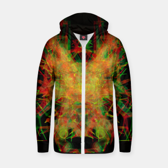 Thumbnail image of 3D Mechanical Antelope Cotton zip up hoodie, Live Heroes