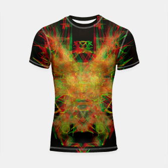 Thumbnail image of 3D Mechanical Antelope Shortsleeve rashguard, Live Heroes