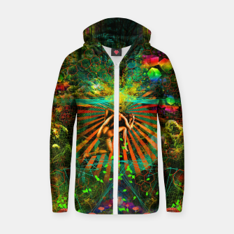 Thumbnail image of Forest Mind Expansion Cotton zip up hoodie, Live Heroes
