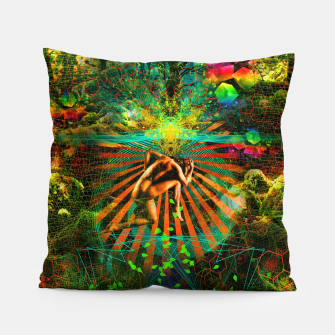 Thumbnail image of Forest Mind Expansion (visionary) Pillow, Live Heroes