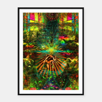 Thumbnail image of Forest Mind Expansion (visionary) Framed poster, Live Heroes
