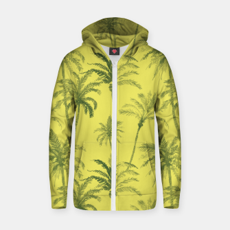 Miniaturka Palm trees Cotton zip up hoodie, Live Heroes