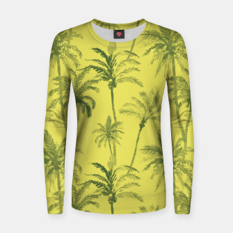 Miniaturka Palm trees Woman cotton sweater, Live Heroes