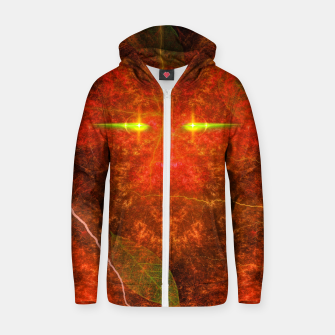 Thumbnail image of Fiery Autumn Fox Cotton zip up hoodie, Live Heroes