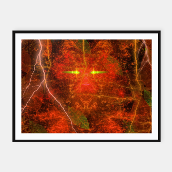 Thumbnail image of Fiery Autumn Fox Framed poster, Live Heroes