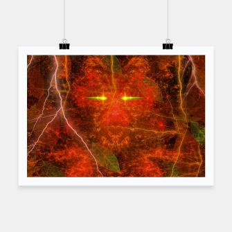Thumbnail image of Fiery Autumn Fox Poster, Live Heroes