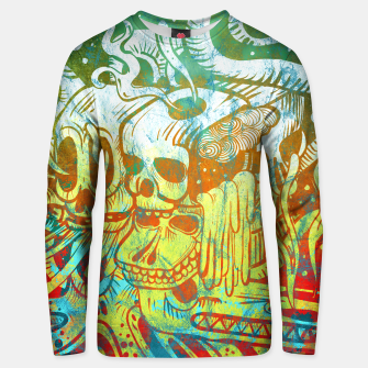 Thumbnail image of Skull Doodle Color Cotton sweater, Live Heroes