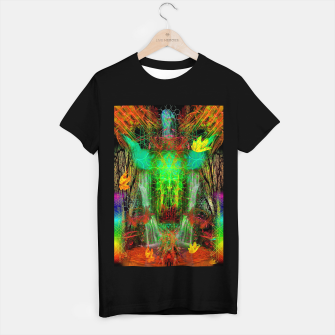 Miniature de image de The Cooling Spirit of Autumn (visionary, forest, leaves) T-shirt regular, Live Heroes