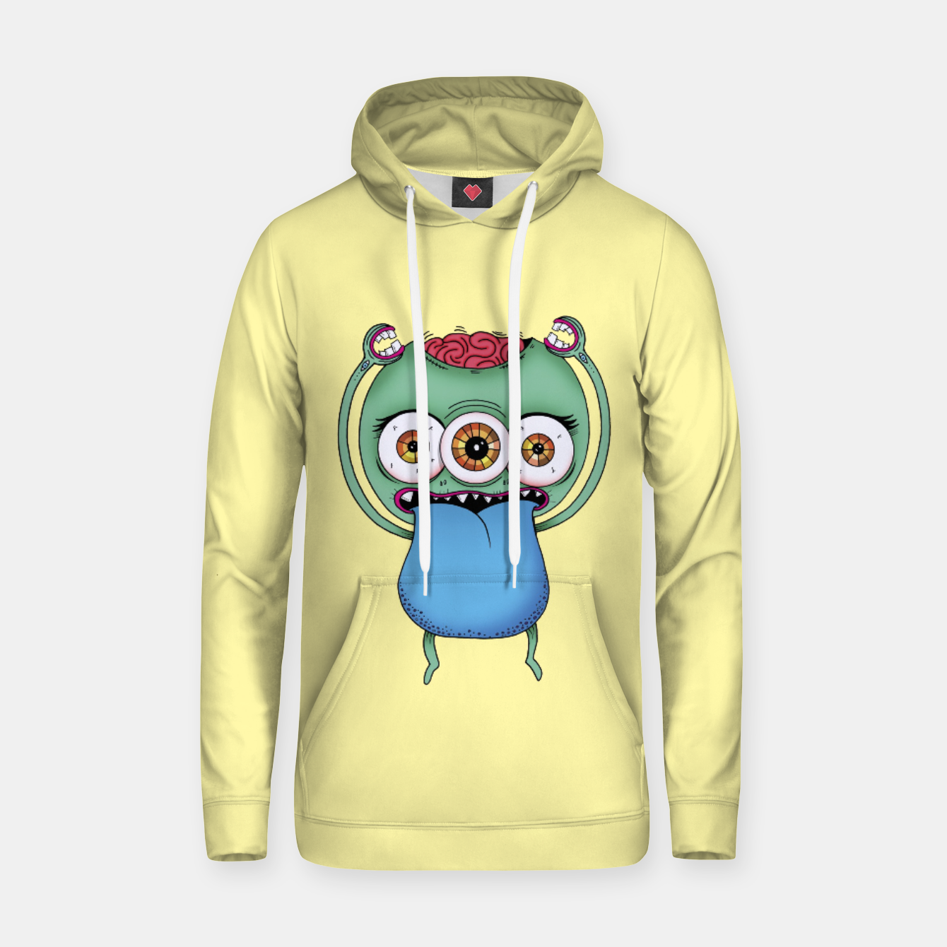 Image of Brain Cotton hoodie - Live Heroes